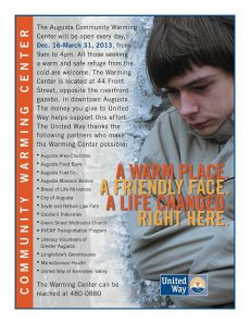 United Way Appeal for Warming Center