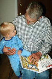 Grandpa reads